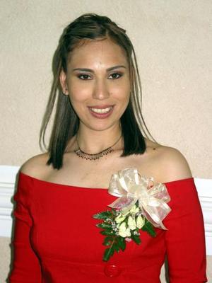 Claudia López Zúñiga en su primer despedida de soltera.