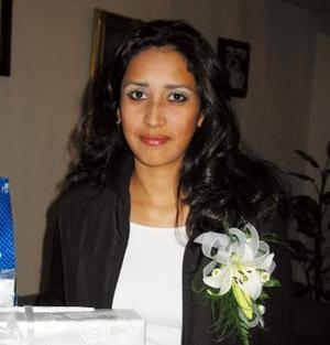 Diana Ortiz Pérez cpatada en su despedida de soltera realizada en días pasados.