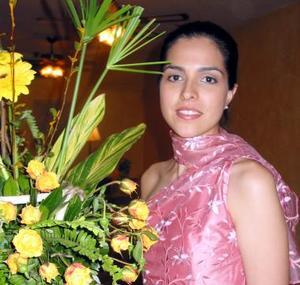Ana Claudia Baca Martínez, captada en una de sus despedidas de soltera.