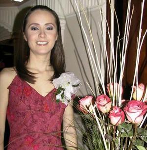 <u><b>22 de febrero</u></b><p> Mónica Luna Fernández en su primera despedida de soltera.