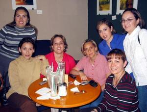 Norma Ebrard, Rocío Villarreal, Karla Alatorre, Mayra González, Liz Ochoa y Gaby González.