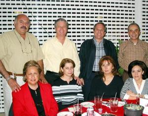 Alberyo y Marcela Baillo, Alejandro y Elba Canedo, Carlos y Elisa Dávalos, Víctor y Mayela Mayagoitia.