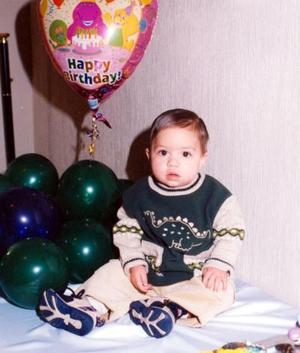 El pequeño David Esteban González Cabrero celebró su primer año de vida, con un agradable convivio infantil.