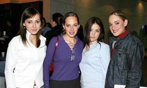 Edna Monroy, Lorena Luévanos, Adriana Patiño y Alejandra Luévanos.