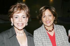 <b><u>25 de febrero</b></u><p> María Teresa de Cantú y Alicia Cárdenas
