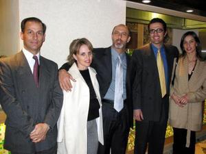 Jaime Murra, Patricia de Batarse, Nicolás Batarse, Jesús del Río y Daniela del Río.