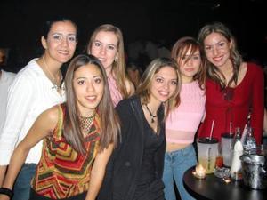 Marcela Romo, Mayela Torres, Barbie Sylva, María Olayo, Rocío Sañudo y Ángela García de Alba.