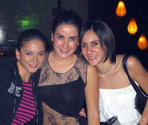 Edna Garza, Lucero Velázquez y Lorena González.