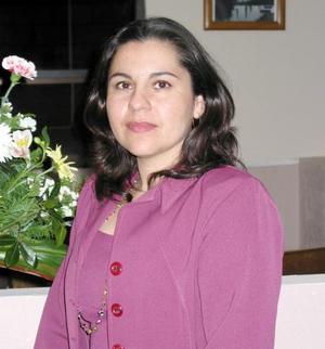 Andrea Bazan captada en pasado festejo.