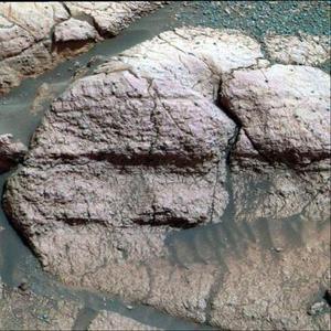 Estudios adicionales determinarán próximamente si las rocas examinadas formaban el lecho de un lago salado o de un mar.