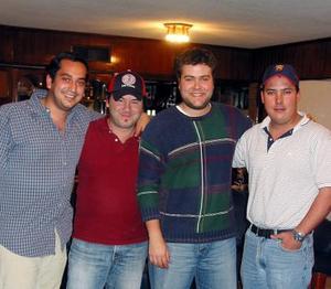 José Eduardo López, Víctor Leyer, Ramiro Cantú y Gerardo Tinoco.