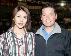 Evelin Galindo y Eduardo Torres