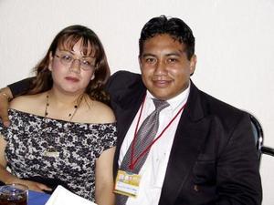Lorena Morua y Carlos Francisco García.