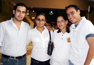 Luis Jerez, Jesica Cortez, Mayela Monte y Cristina Orozco.