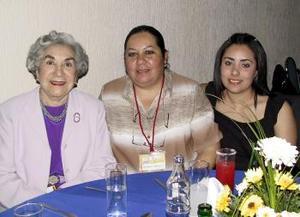 Consuelo Laureano, Graciela Cabañas y Sara Aguillón