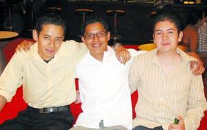 José Alberto Martínez, Manuel Ramírez y José Flores.