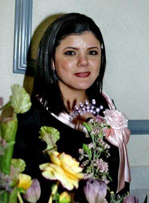 <b><u>12 de marzo </b></u><p> Alejandra Borrego Anzures durante su despedida de soltera.