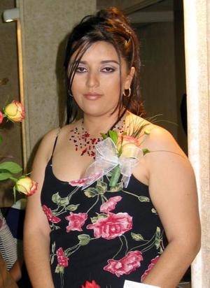 Selene Díaz González captada en su despedida de soltera.