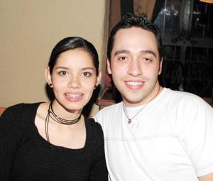 Sofía Villarreal y Felipe Franco.
