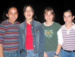 Cecilia López, Scarlet Ordaz, Bárbara Barroso y Ana Casas.