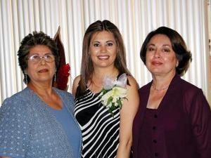 <b><u>14 de marzo </b></u><p> Susana Alejandra Ávalos Martínez acompañada de Norma Leticia Martínez Ávalos y Bertha Galindo de Pérez.