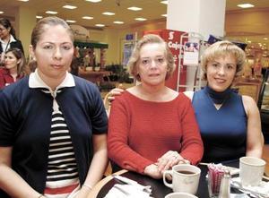 Paty Gutiérrez, María Elena García de Sada y Lily Michelle de Fuentes.