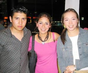 Alaín Saucedo, Jéssica Morales y Pamela Arreola.
