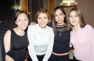 Ana Villarreal, Janeth Soto, Ofir Fernández y Lily Zuñiga.