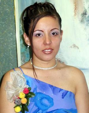 Rocío Pérez en la despedida de soltera que le ofrecieron por su próximo matrimonio.