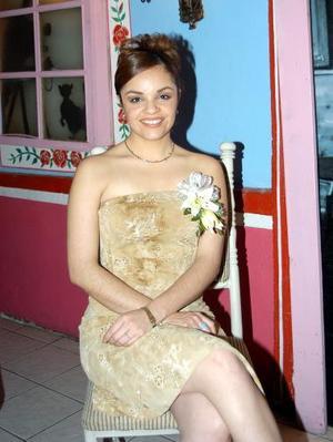 Alejandra Sánchez Tovalín, captada n la despedida de soltera que se le ofreció