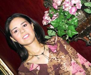 Gabriela Reyes Cedillo, captada en la despedida de soltera que le ofrecieron por su próximo enlace nupcial.
