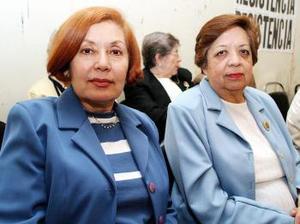 Ana María Bañuelos y Josefina de Muñoz