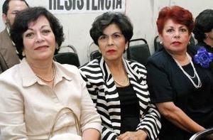 <b><u>22 de marzo </b><u><p> Rosario Garibaldi, Nelly González y Gloria Macias.