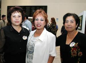 <b><u>23 de marzo </b><u><p>  Socorro Ortiz, Lucy Ávalos y Rufy Rodríguez.