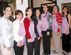 Claudia Rebollo, Marisa de Ibarra, Mónica de López, Yolanda de Murra, Estela de Obeso, María Rosa de Rebollo y Eréndira de Hernández