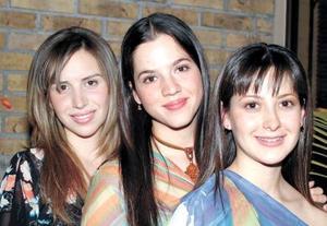Elorza Hernández, Michelle Leal y Abril González.