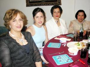 Fátima Elías Ale, Fátima Horcasitas Elías, Linda Elías Ale y Herlinda Ale de Elías.