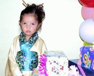 Jennifer Yareli Botello Machado festejó su tercer cumpleaños de vida con una fiesta infantil.