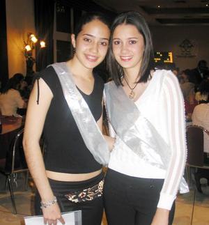 Mariana Díaz de León y Claudia Rebollo.