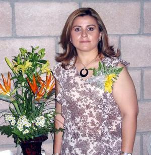 Alejandra Chávez Alemán captada en su despedida de soltera realizada en días pasados.