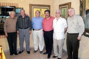 Jesús Martínez, Ediberto Zúñiga, Francisco Ledesma, Mario Villarreal, Sergio Berlanga, y Jorge Pérez.