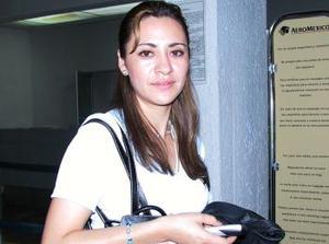 Sofía Romero regresó a la Ciudad de México.