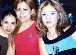 Yadira Faudoa, Marcela Guerrero y Judith Luna.