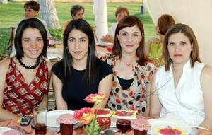 Begoña de Sada, Lorena de Menodza, Bertha de De la Peña e Ileana de Ramírez.