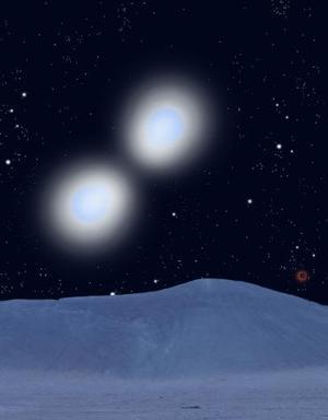 La imagen de un par de jóvenes estrellas haciendo círculos fue ganadora en el Concurso Cosmos.