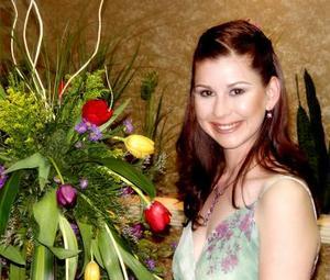 Sonia Elizabeth Navarro Díaz durante su despedida de soltera.