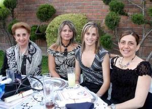 Fueron captaadas en pasado festejo social María Elena Abusaid  de Fernández, Ana Sofía Méndez, Irene Karam y Mayte Echeverría