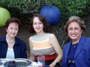 <u><b>01 de abril </b></u> <p>  Sandy de López, Marcela de Baille y Analy de Jaidar.