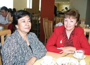 <u><b>02 de abril </b></u> <p> Laura Cepeda de Mestas y Patricia Zermeño González.