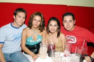 Leo Ocón Pérez, Daniela García Blanca, Alejandra Castañeda Márquez y Javier Lara Valdez.